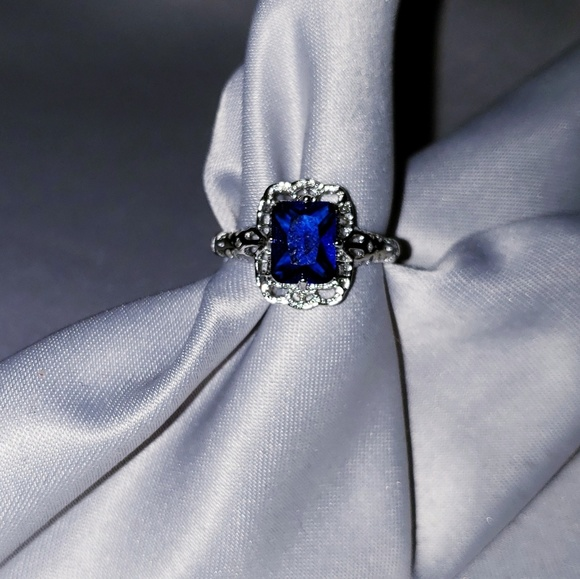 Jewelry - STERLING SILVER (faux) Sapphire Ring